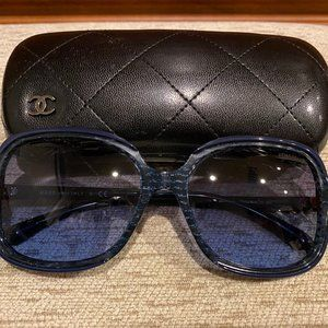 CHANEL SUNGLASSES BLUE FRAME